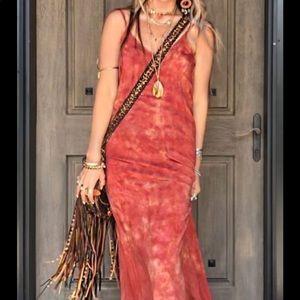 Tie Dye Rust Dress by Blue Life